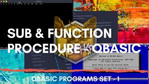 SUB & FUNCTION Procedure - QBasic
